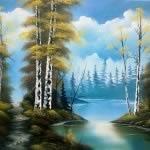 Workshop Caminho do rio. Pinte este quadro num só dia!
