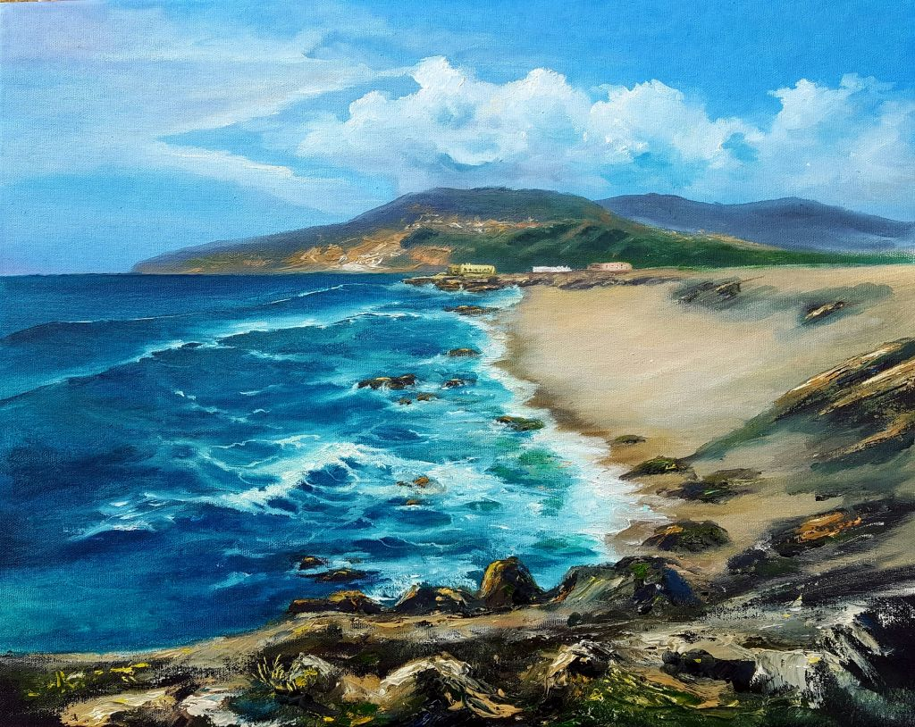 "Workshop ""Vista do Guincho"" - 2ª sessão (tela 50x30cm)"