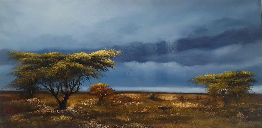 "Workshop ""África minha"" (tela 60x30cm)"